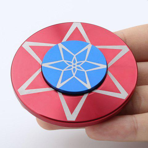 Round Metal Anti Stress Finger Gyro Spinner Rouge 6*6*1.2