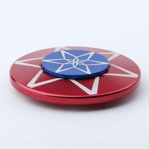 Latest Round Metal Anti Stress Finger Gyro Spinner - 6*6*1.2 RED Mobile