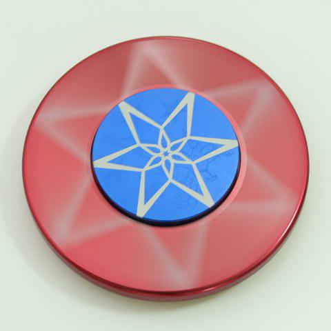 Trendy Round Metal Anti Stress Finger Gyro Spinner - 6*6*1.2 RED Mobile