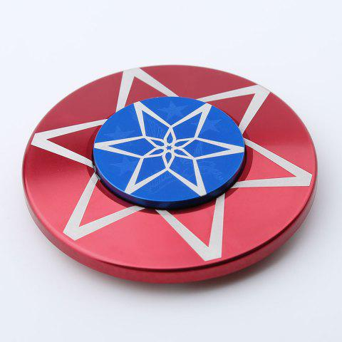Best Round Metal Anti Stress Finger Gyro Spinner - 6*6*1.2 RED Mobile