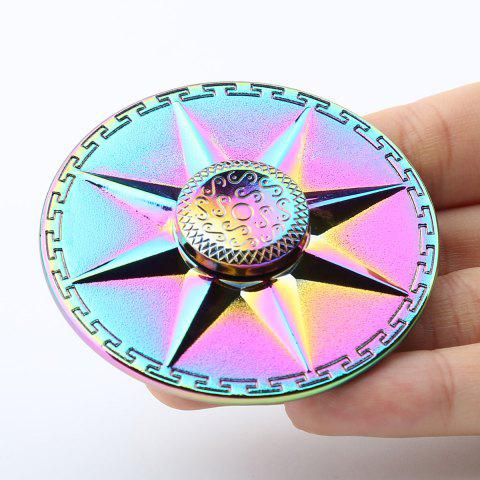 Best Rainbow Round Fidget Toy EDC Finger Spinner - 6*6*1.5CM COLORFUL Mobile