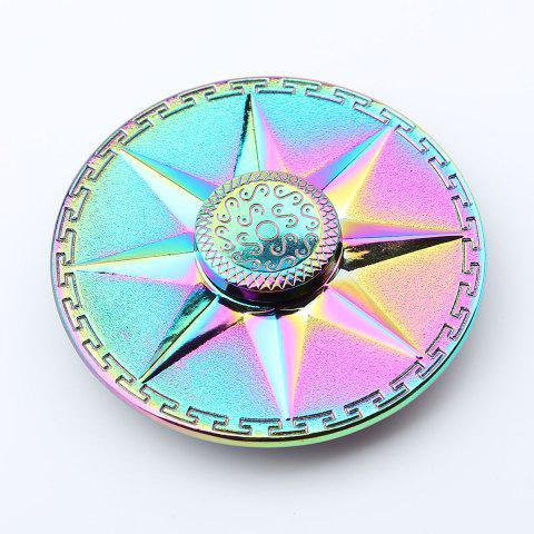 Latest Rainbow Round Fidget Toy EDC Finger Spinner - 6*6*1.5CM COLORFUL Mobile