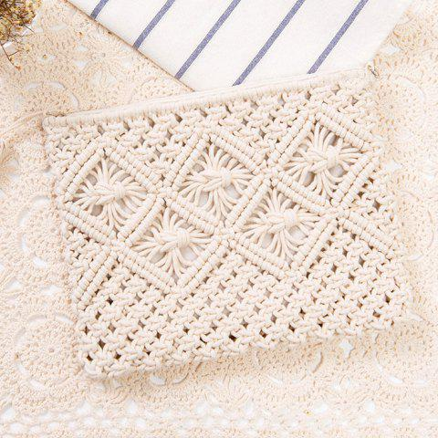 Fancy Tassel Crochet Clutch Beach Bag