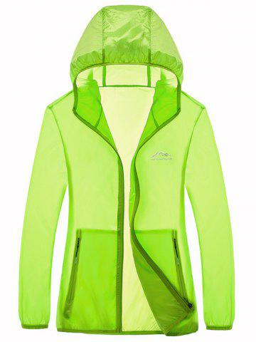 Shops Zipper Up Hooded UV-Protection Wear - 4XL NEON GREEN Mobile
