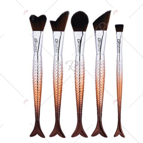 Store Mermaid Tail Makeup Brushes Set With Brush Bag - COFFEE  Mobile
