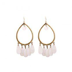 Vintage Water Drop Alloy Hook Earrings