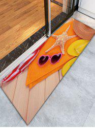 Straw Hat Starfish Skidproof Bathroom Rug