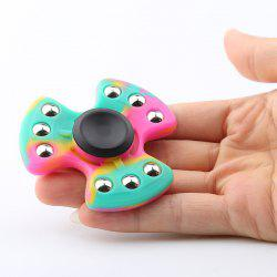 Nine-balls Colorful Silicone Tri-bar Fidget Spinner Fiddle Toy - COLORMIX