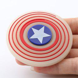 Glow In The Dark Star Pattern Round Silicone Fidget Spinner - RED