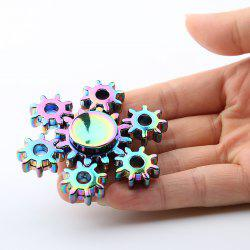 Colorful Rudder Shape Fidget Metal Spinner Anti-stress Toy - COLORMIX
