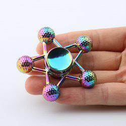 Ball-bar Star Colorful Fidget Metal Spinner Anti-stress Toy -