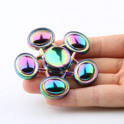 Oval-bar Star Colorful Fidget Metal Spinner Anti-stress Toy - Multicolore