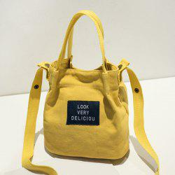 Letter Patches Canvas Handbag