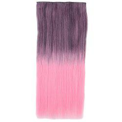 Ombre Short Straight Clip In Hair Extensions - BLACK/PINK
