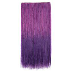 Ombre Short Straight Clip In Hair Extensions - PURPLISH RED