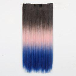 1Pcs Long Silky Straight Multi Color Ombre Clip In Hair Extensions -