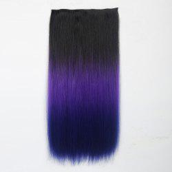 1Pcs Long Silky Straight Multi Color Ombre Clip In Hair Extensions