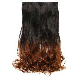 1Pcs Wavy Medium Two Tone Clip In Hair Extensions - BLACK AND BROWN