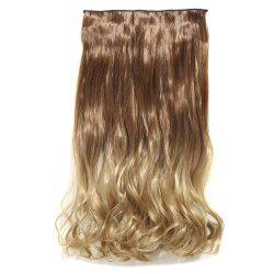 1Pcs Wavy Medium Two Tone Clip In Hair Extensions - Or vénitien
