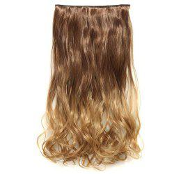1Pcs Wavy Medium Two Tone Clip In Hair Extensions - BROWN 27#