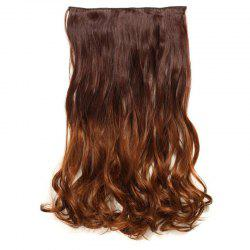 1Pc Wavy Medium Two Tone Clip In Hair Extensions -