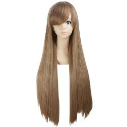 Ultra Long Side Bang Layered Glossy Straight Synthetic Naruto Cosplay Anime Wig - Lin