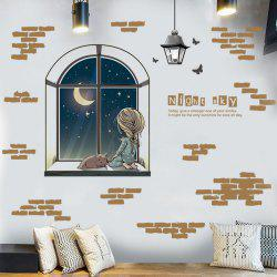 Night Sky Themed Bedroom Decor Sticker For Wall