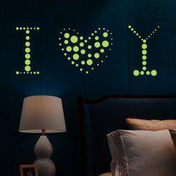 Home Decor Luminous Dots DIY Wall Sticker