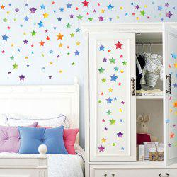 Colorful Star DIY Wall Sticker For Kids Room Decor - COLORMIX