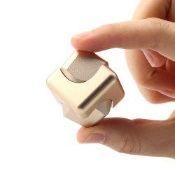 Stress Relief Alloy Cube Hand Spinner - GOLDEN