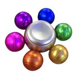 Anti Stress Colorful Ball Alloy Hand Spinner - COLORFUL
