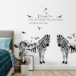 Removable Zebras Ink Landscape Quotes Wall Sticker -