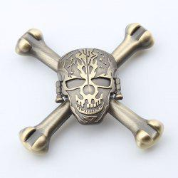 Finger Toy Skull Design EDC Metal Fidget Spinner - Ginger - 7.5*7.5*1.5cm