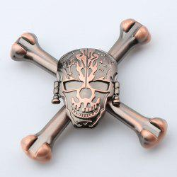 Finger Toy Skull Design EDC Metal Fidget Spinner - RED BRONZED