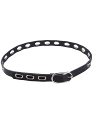 Metallic Hollow Out Oval Rings Waist Belt -