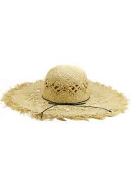 Hollow Out Woven Wide Birm Straw Hat -