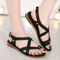 Belt Buckle Toe Ring Sandals