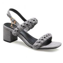 Mid Heel Belt Buckle Sandals