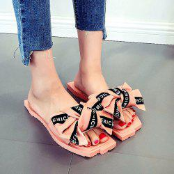Bowknot Letter Pattern Slippers