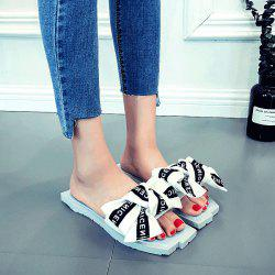 Bowknot Letter Pattern Slippers -