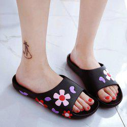 Flat Heel Flower Pattern Slippers