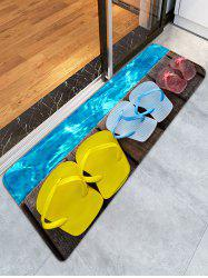 Wood Grain Slippers Bathroom Skidproof Flannel Rug