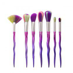 7Pcs Sword Shaped Gradient Handle Makeup Brushes Set
