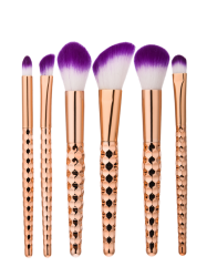 6Pcs Honeycomb Shape Handle Makeup Brushes Set