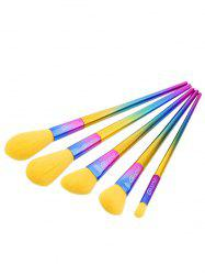 5Pcs Triangle Shaped Ombre Handle Makeup Brushes Set