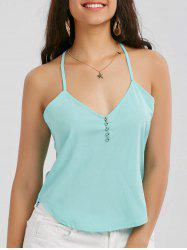 V Neck Strappy Cami Top