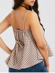 Plaid Bowknot Design Cami Tank Top