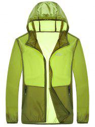 Zipper Up Hooded UV-Protection Wear -