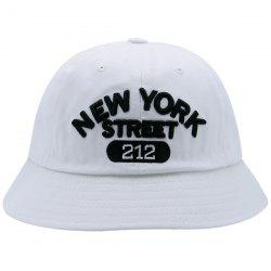 Number Letters Embroidered Bucket Hat - WHITE