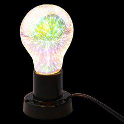 3D Colorful Fireworks LED Night Light Glass Bulb
